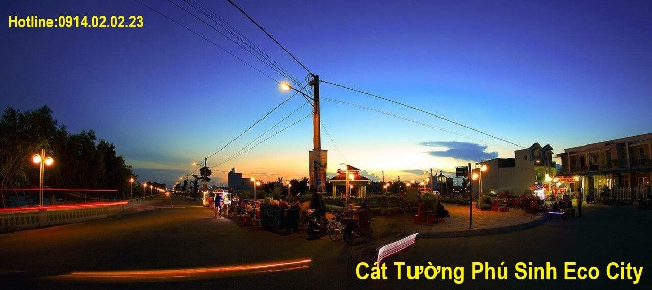 Ban đêm tại Cát Tường Phú Sinh