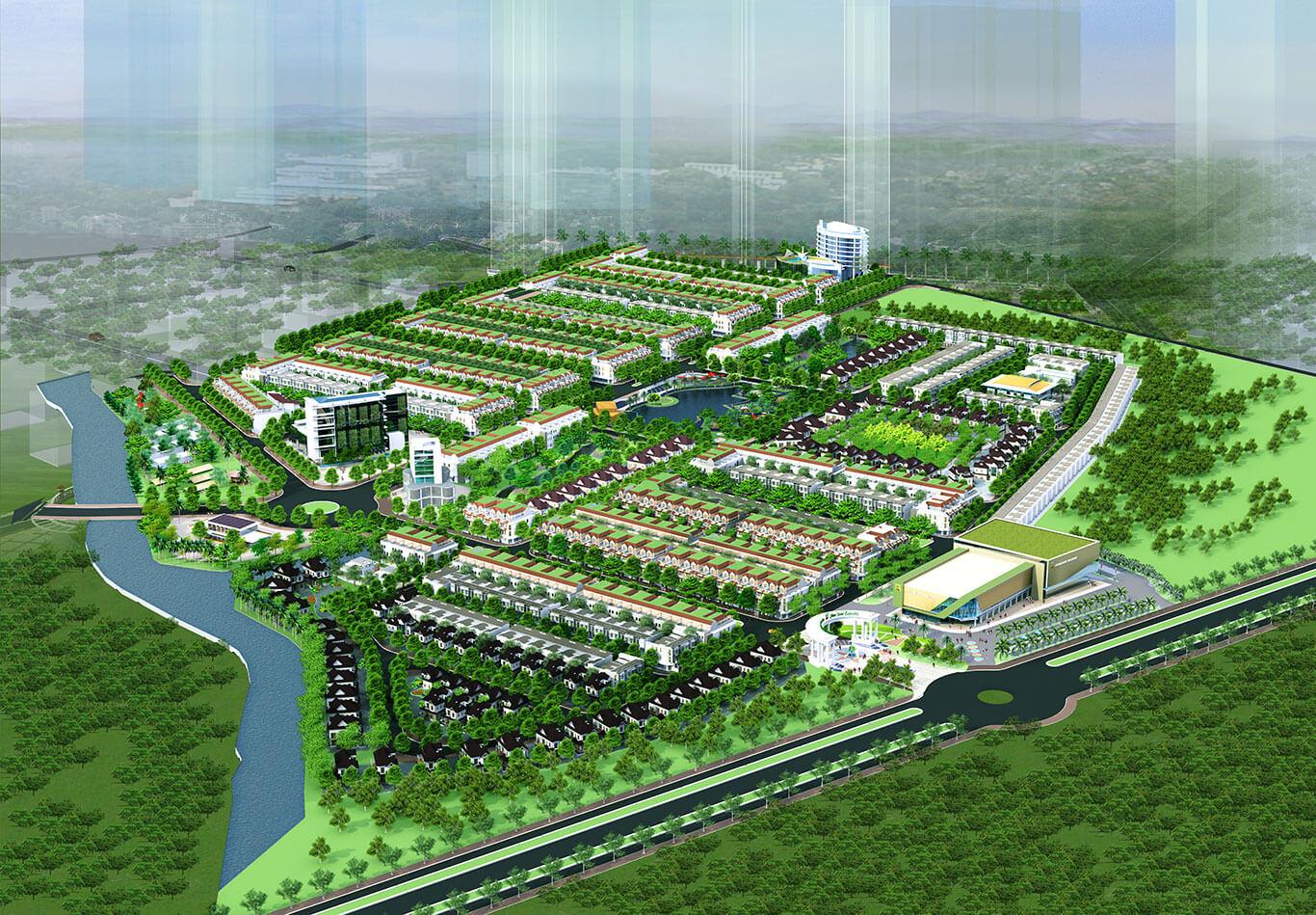 Sơ đồ phân lô tổng thể dự án Fiev Star Eco City