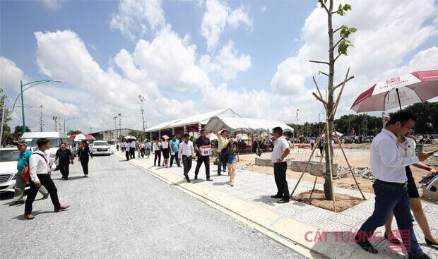Tiến độ cơ sở hạ tầng tại Cát Tường Phú Bình được triển khai bài bản, hoàn thiện