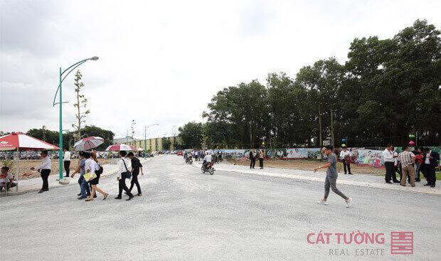 Cơ sở hạ tầng đã cơ bản hoàn thiện tại dự án Cát Tường Phú Bình