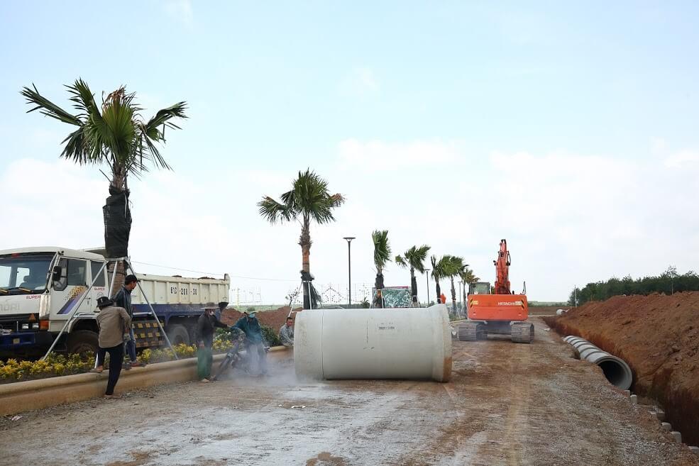 Đẩy mạnh triển khai hoàn thiện cơ sở hạ tầng tại Cát Tường Phú Hưng