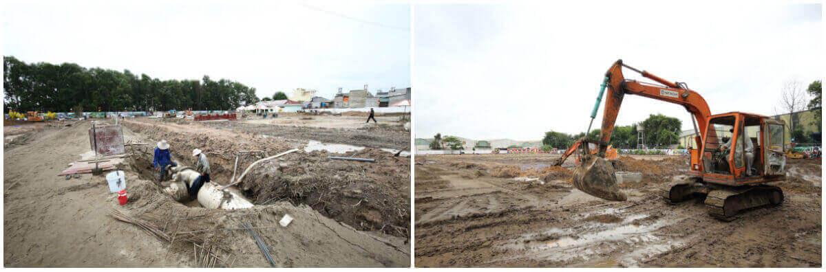 Tiến độ cơ sở hạ tầng tại dự án Cát Tường Phú Bình