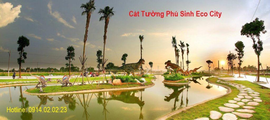 Công viên khủng long tại Cát Tường Phú Sinh