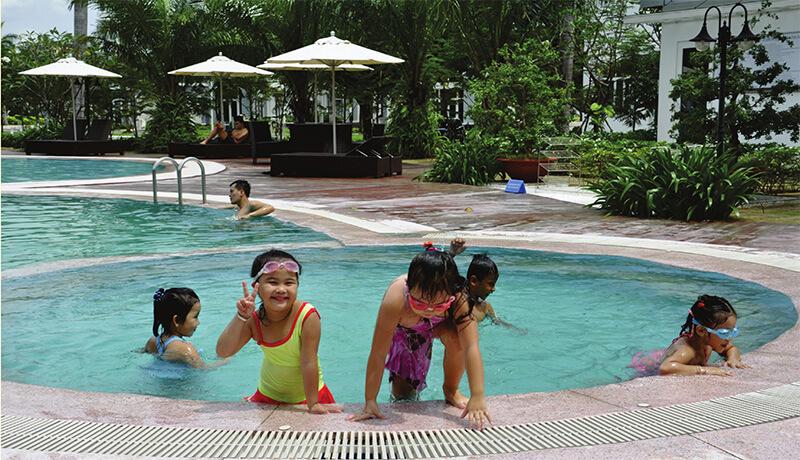 Khu hồ bơi của trẻ em của Thành phố sinh thái 5 sao