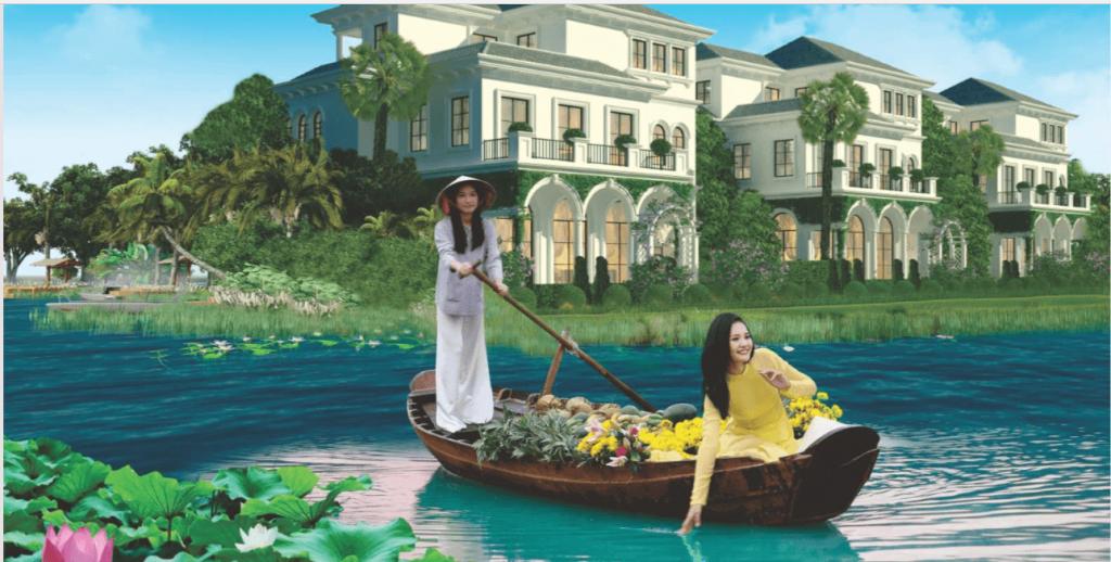 Khu đô thị sinh thái 5 sao - Cỏ cây, hoa lá, sông nước, con người hòa quện làm một