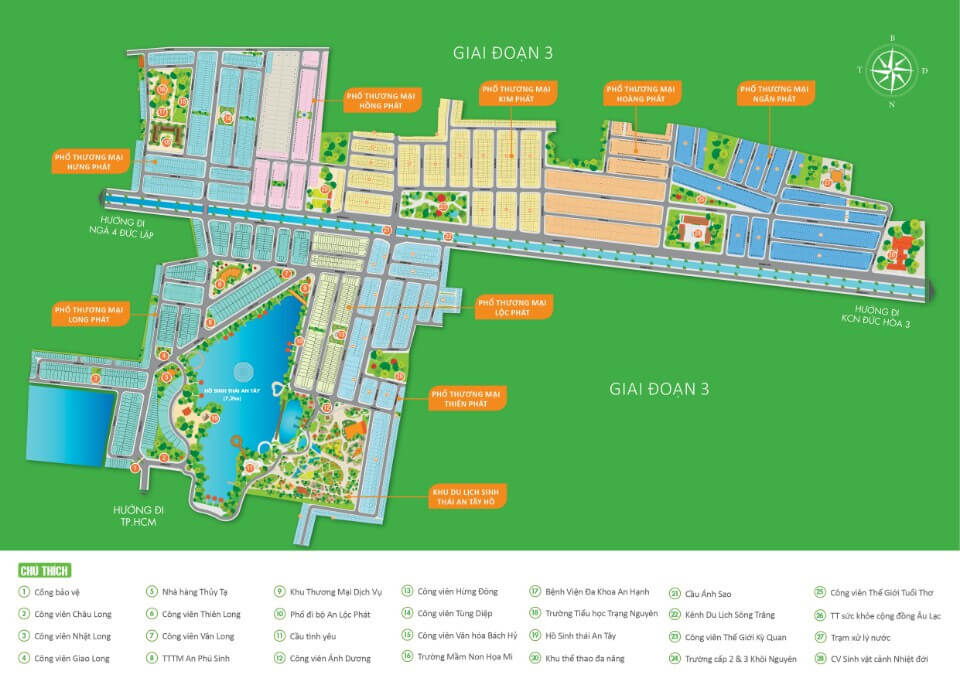 Sơ đô phân lô tổng thể dự án Cát Tường Phú Sinh